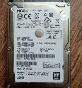 HDD Hitachi 1TB HTS541010A9E680 2.5""