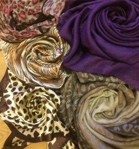 6шт Платки и шарфы
