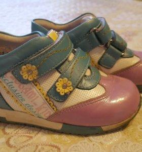 Полуботинки-туфли кожаные.