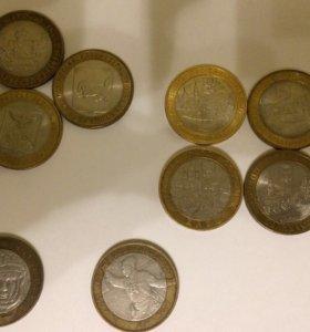 10 рублей биметал