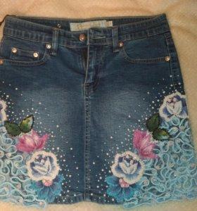 Юбка новая джинсовая
