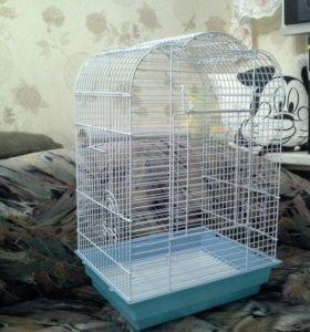 Клетка для крупного попугая, б/у.