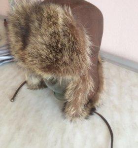 Шапка Зимняя Мех натуральный енот