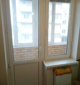 Дверь и окно балконные