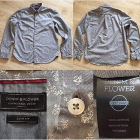 Рубашка Denim & Flowers оригинал из США