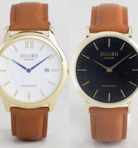 Мужские часы с кожаным ремешком Reclaimed Vintage