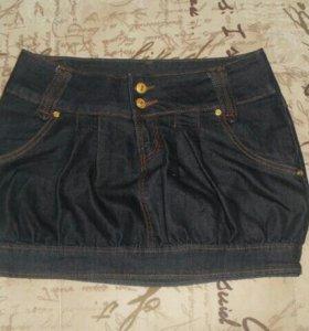 Джинсовые мини-юбки
