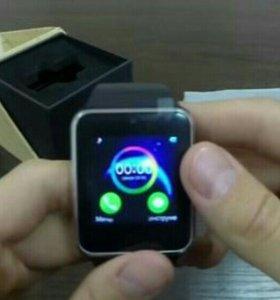 Часы watch чёрные на IOS.