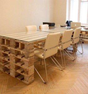 Мебель для офисных помещений из европоддонов