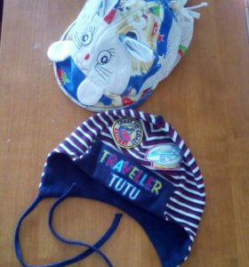 Летние кепка и шапка на 1-2 года