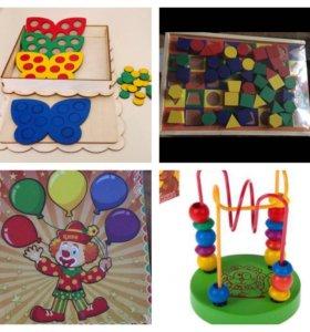 Развивающие игрушки по Монтессори.