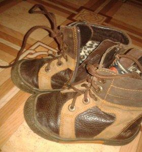 Ботинки демисезонные Натур.кожа