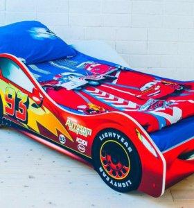 Кровать маквин красная машина
