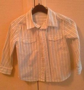 Белая рубашка с длинным рукавом Mothercare 2-3года