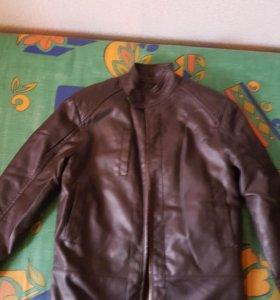 Куртка кожаная утепленная с мехом