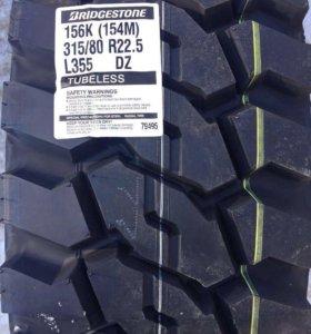 Грузовые шины Бриджстоун 315/80R22.5 карьерная