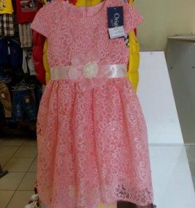 Платье нарядное новое. Гипюр.
