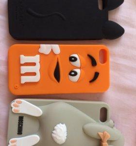 Чехлы силиконовые на iPhone 5s