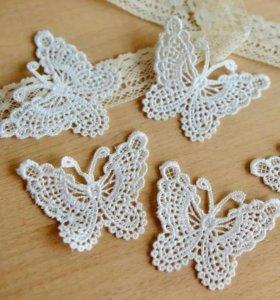 Большие Бабочки из кружево для декор и скрапбукинг