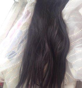 Искусственные волосы на заколках 70 см
