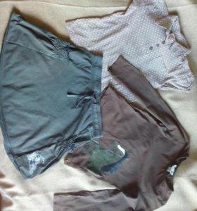 Блузки H&M, C&A и юбка sOliver