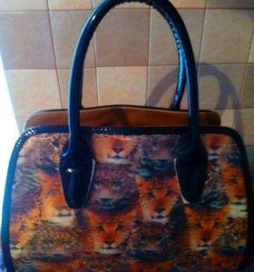 Классная сумка с леопардовым принтом 3D.