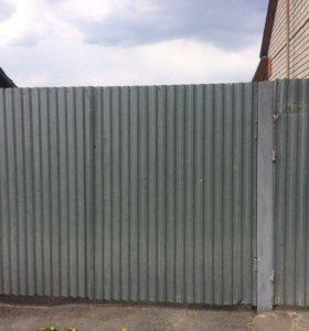 Ворота и калитка из металлопрофиля