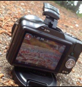 Panasonic gf-3 + samyang 12mm f2.0 mf m4/3+14-42mm