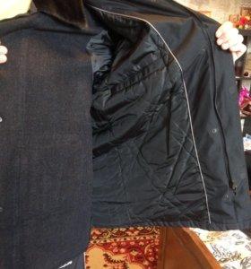 Куртка мужская зимняя с подстежкой и воротником из