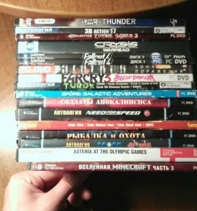 10 дисков с играми на компьютер