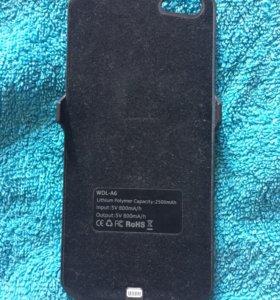 Дополнительный аккумулятор,чехол на iPhone 5.5s