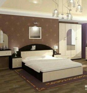 Спальня с прикроватным блоком Александра