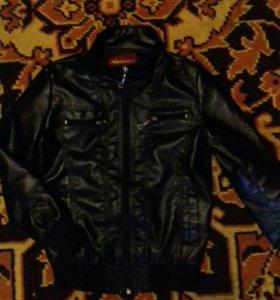 Куртка на мальчика (кожзам )