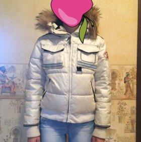 Куртка белая, мех