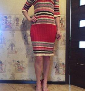 Платье новое полоска красное