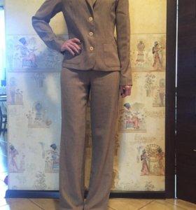 Костюм пиджак брюки коричневый