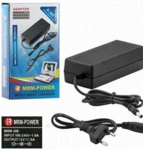 Зарядное, блок питания 12V 8A 5.5/2.5mm