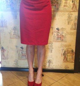 Incity юбка красная новая