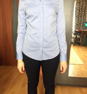 Рубашка голубая манго размер s