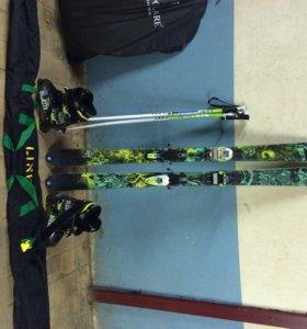 Лыжи горные К2 square ,крепы marker,боты dolbello