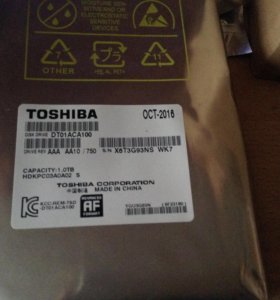 Жесткий диск на 1 ТБ Toshiba