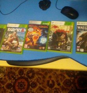 Xbox360 + 5 игр