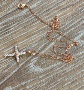 Крестик под золото