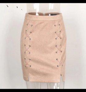 Новая юбка экозамша, 44