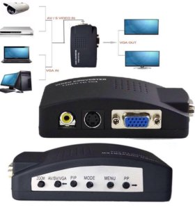 Конвертер видеосигнала AV RCA (тюльпан) - VGA