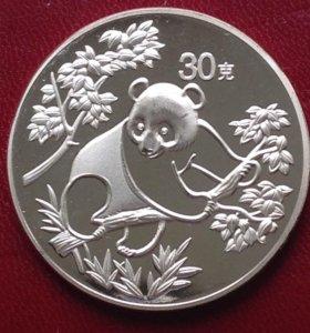Китай 30 юань 1992г - панда