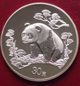 Китай 30 юань 1997г - панда