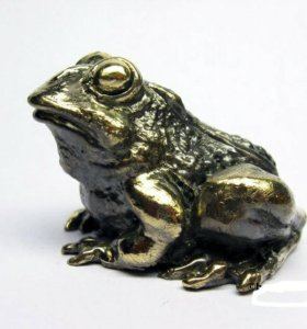 Лягушка, жаба - фигурка, статуэтка из бронзы