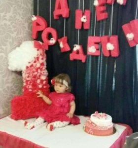 Атрибутика к первому годику принцессы!!!