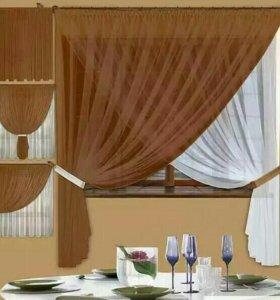 Комплект штор для кухни.